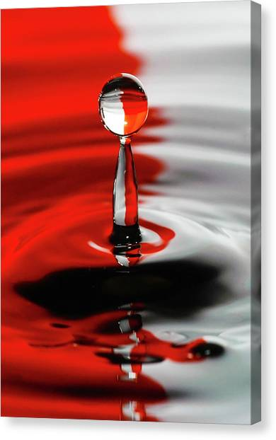 Divided By Red Canvas Print
