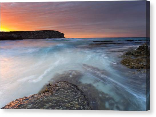 Pennington Bay Canvas Print - Divided Tides by Mike  Dawson
