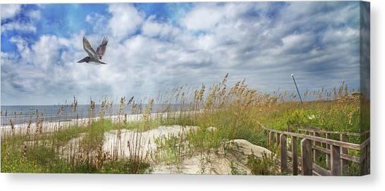 Seagrass Canvas Print - Divine Beach Day Special Crop by Betsy Knapp