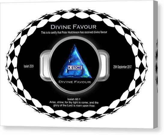 Divine Favour Canvas Print