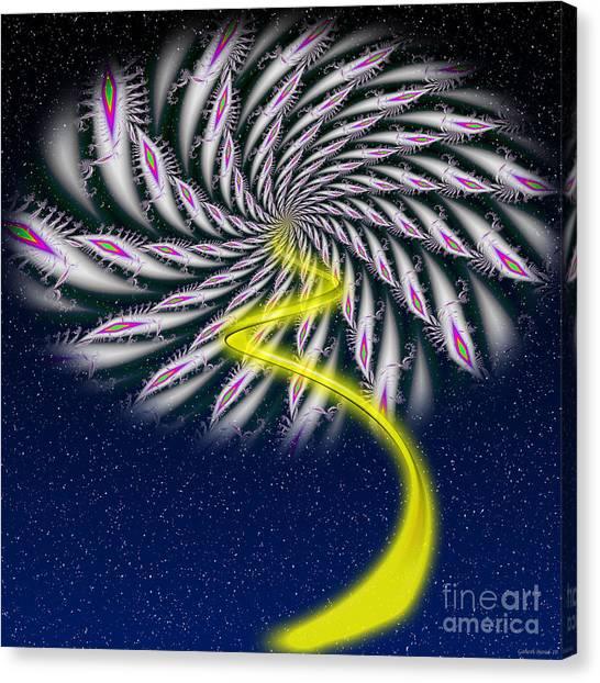 Divine Fireworks Canvas Print by Ganesh Barad
