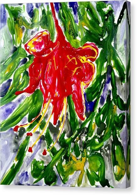 Divine Fllowers Canvas Print by Baljit Chadha