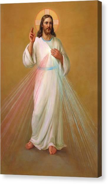 Mercy Canvas Print - Divine Mercy - Divina Misericordia by Svitozar Nenyuk
