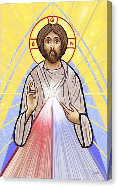 Divine Mercy Icon Style Canvas Print