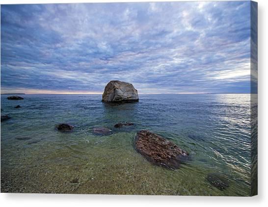 Diving Rock Canvas Print