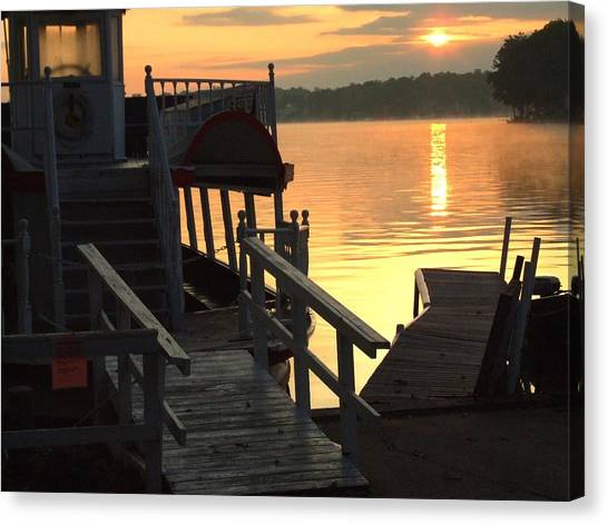 Dixie Boat Sunrise Canvas Print