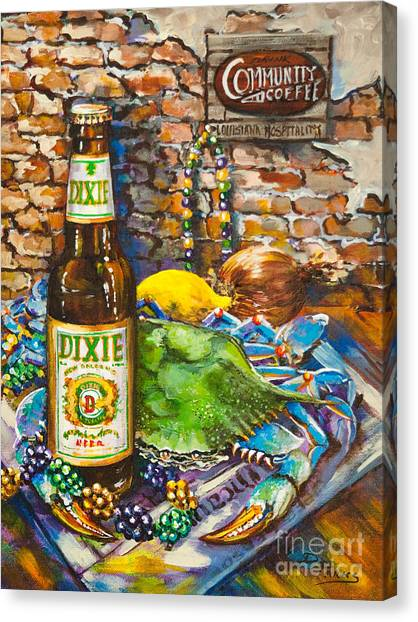 Crabs Canvas Print - Dixie Love by Dianne Parks