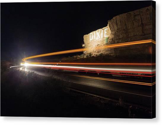 Utah State University Canvas Print - Dixie Rock Light-trails  by Michael Steck
