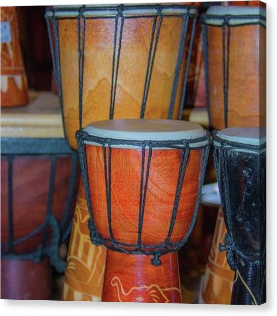 Djembe Canvas Print - Djembe Drum By Pamela Williams by Pamela Williams