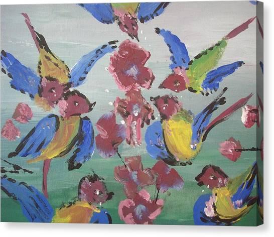Dlyg Birdsong Canvas Print by Judith Desrosiers