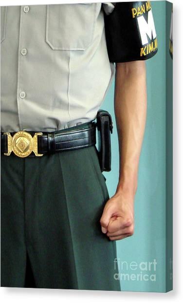 Korean Canvas Print - Dmz Soldier In Korea by Delphimages Photo Creations