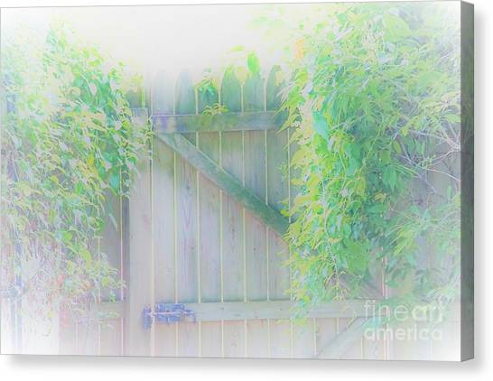 Do I Want To Leave The Garden Canvas Print