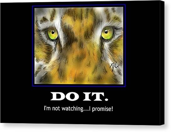 Canvas Print featuring the digital art Do It Motivational by Darren Cannell