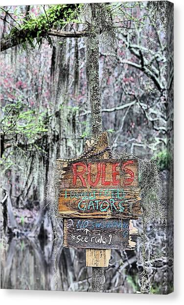 Do Not Feed Gators Canvas Print by JC Findley