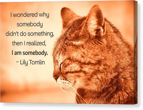 Do Something - Orange Cat Canvas Print
