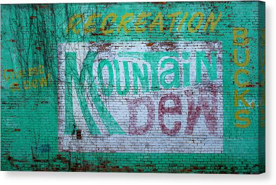 Mountain Dew Canvas Print - Do The Dew by Enzwell
