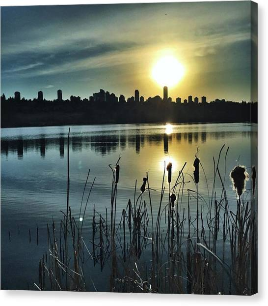 Vancouver Skyline Canvas Print - Do You Like Sunsets? #vancouver by Evgeny Demin