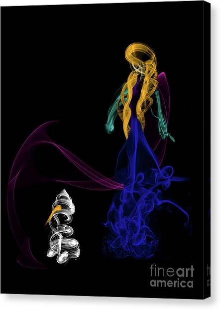 Do You Want To Build A Snowman Canvas Print