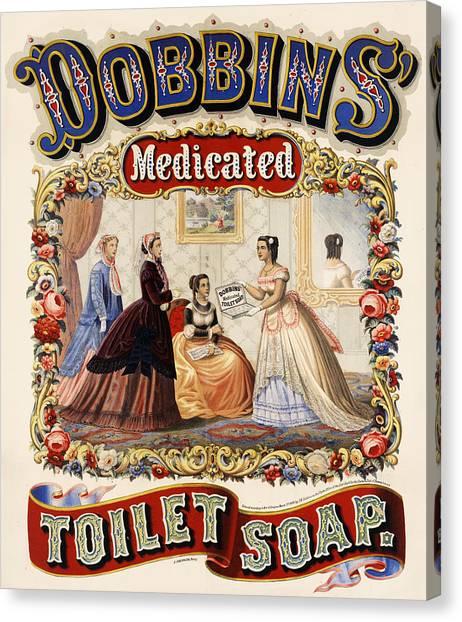 Dobbins Medicated Toilet Soap Canvas Print