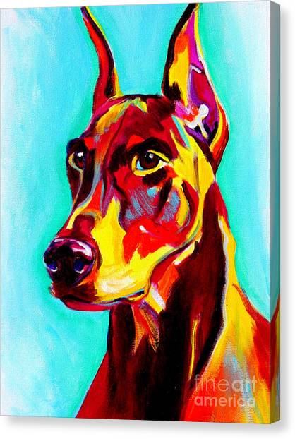 Doberman Pinschers Canvas Print - Doberman - Prince by Alicia VanNoy Call