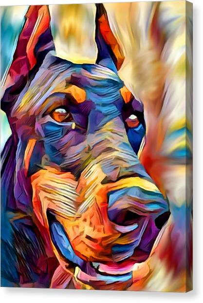 Doberman Pinschers Canvas Print - Doberman 2 by Chris Butler