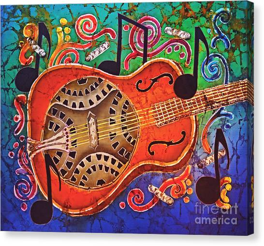 Slide Guitars Canvas Print - Dobro - Slide Guitar by Sue Duda