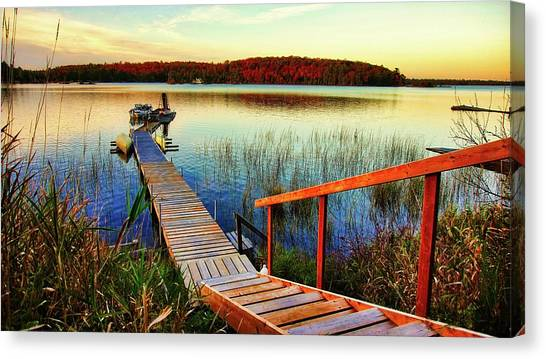Dock At Gawas Bay Canvas Print