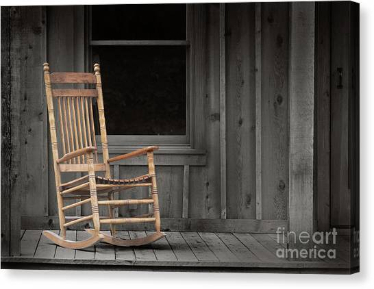 Dock Chair Canvas Print