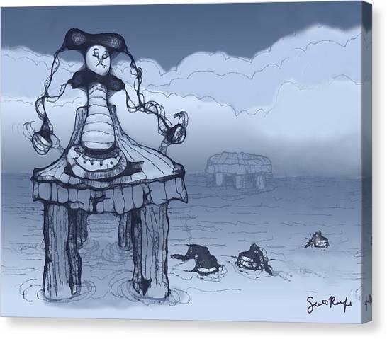 Canvas Print - Dock Jester by Scott Rolfe