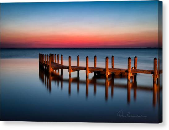 Dock On Currituck Sound 5665 Canvas Print