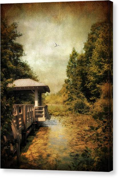 Wetlands Canvas Print - Dock On The Wetlands by Jessica Jenney