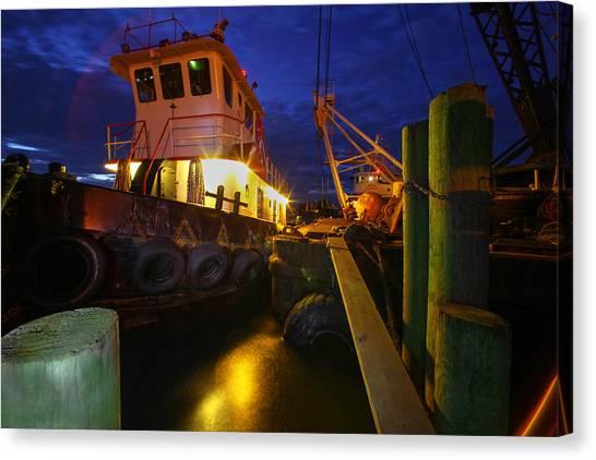 Dock Side Canvas Print