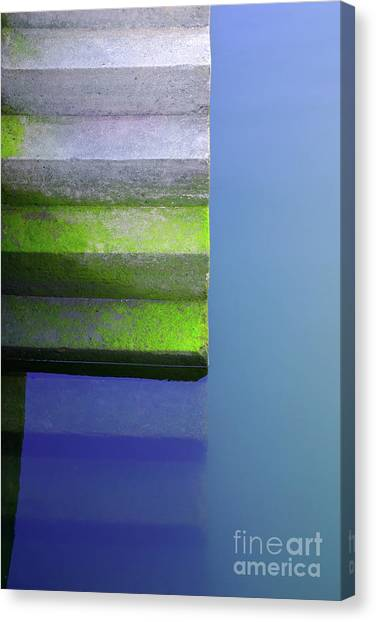 Stair Canvas Print - Dock Stairs by Carlos Caetano