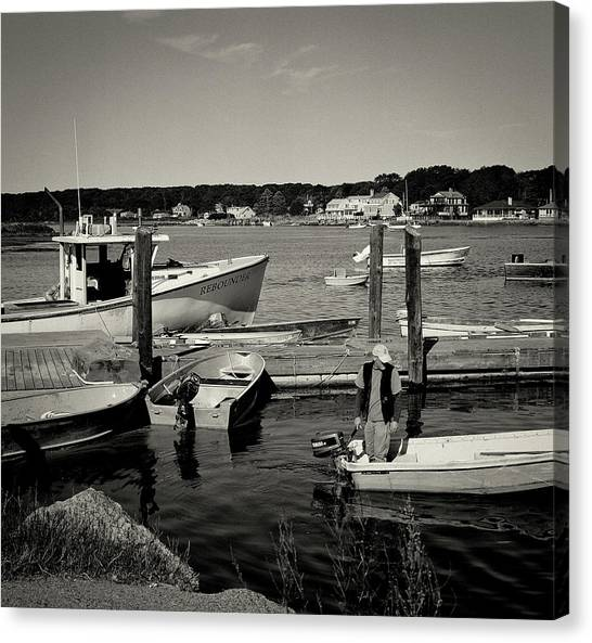 Dock Work Canvas Print