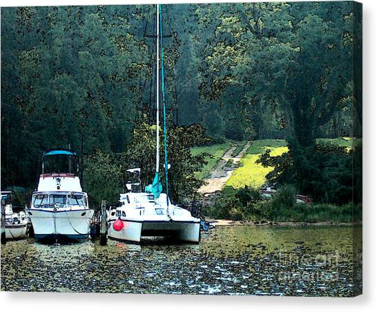 Docked On Chesapeake Bay Canvas Print