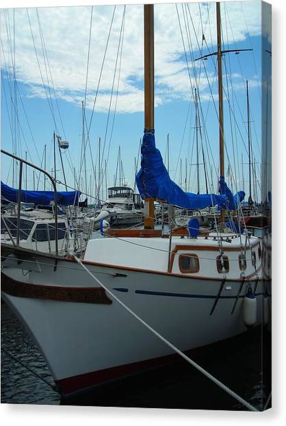 Docking Bay Canvas Print by Peter Mowry