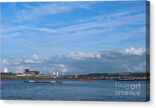 Docklands And Skyline Canvas Print