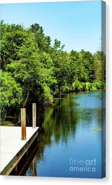 Dockside In Delaware Canvas Print