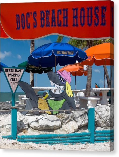 Doc's Beach House On Bonita Beach Canvas Print
