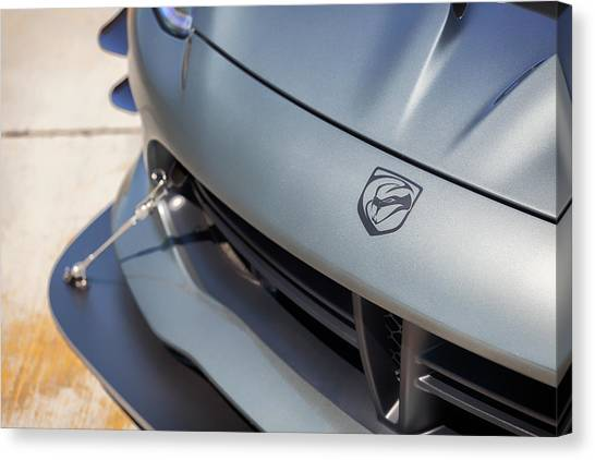 Canvas Print featuring the photograph #dodge #acr #viper #print by ItzKirb Photography
