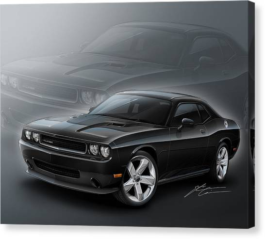 2013 Canvas Print - Dodge Challenger 2013 by Etienne Carignan