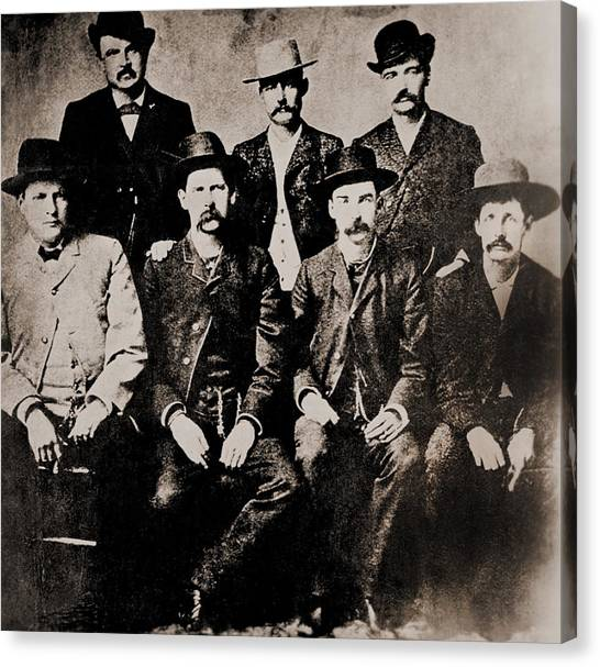 1880s Canvas Print - Dodge City Peace Commissioners by Everett