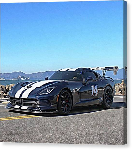 Vipers Canvas Print - Dodge Viper Acr #dodge #viper by Thrill Cars