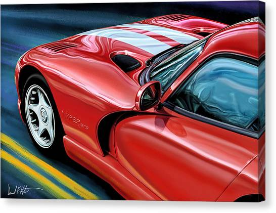 Vipers Canvas Print - Dodge Viper Coupe by David Kyte