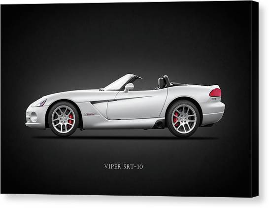 Vipers Canvas Print - Dodge Viper Srt10 by Mark Rogan