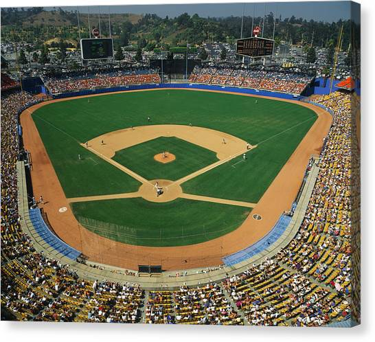 Houston Astros Canvas Print - Dodger Stadium by Panoramic Images