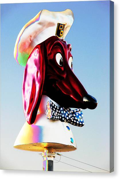 Doggie Diner Sign Canvas Print
