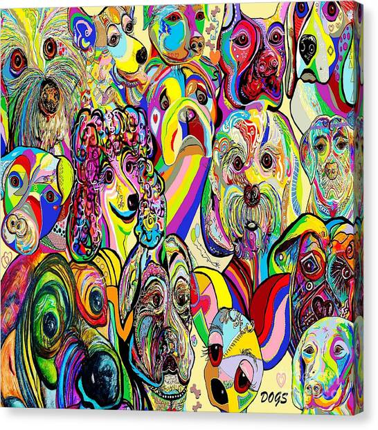 Dogs Dogs Dogs Canvas Print