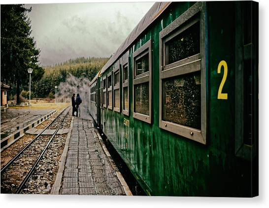Dolene Railway Station Bulgaria Canvas Print