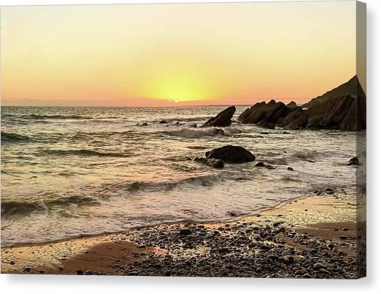 Colourful Canvas Print - Dollar Cove Beach  by Claire Whatley